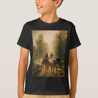 On the Way to the Market by Constant Troyon T-Shirt