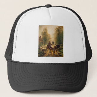 On the Way to the Market by Constant Troyon Trucker Hat