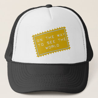 on the way,… ton lake the world trucker hat