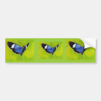 On the Wings aceo Butterfly Bumper Sticker