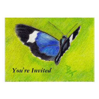 On the Wings aceo Butterfly Invitation