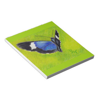 On the Wings aceo Butterfly Notepad