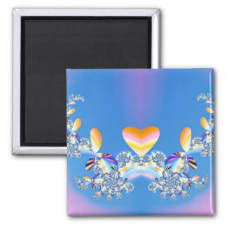 On The Wings Of Love 2 Inch Square Magnet