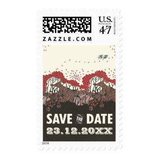 On the wings of love wedding save the date refwi3 stamp