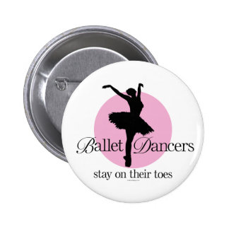 On Their Toes 2 Inch Round Button