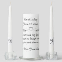 On this day unity candle set