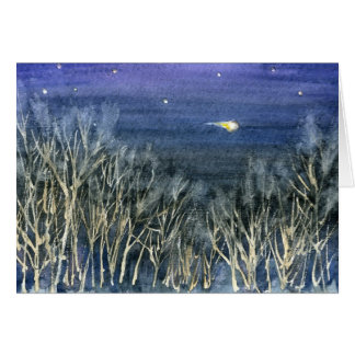 On This Holy Night -Christmas Poem + Shooting Star Greeting Card
