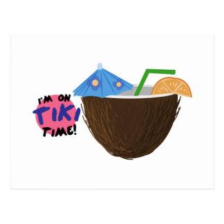 On Tiki Time Postcard