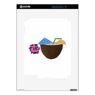 On Tiki Time iPad 2 Decals