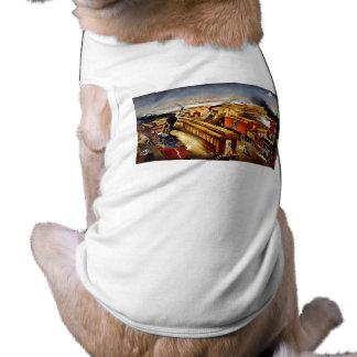 On Time - Vintage Locomotives at Night Dog Tshirt