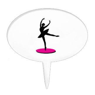 On Toe Ballerina Cake Toppers