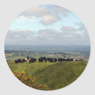On Top Cley Hill Classic Round Sticker