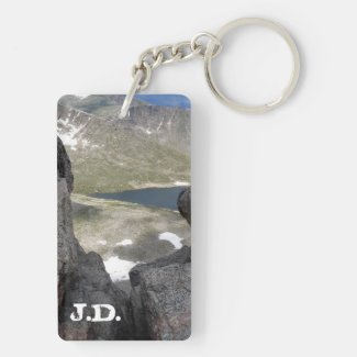 On Top of Mount Evans Rectangle Acrylic Keychains