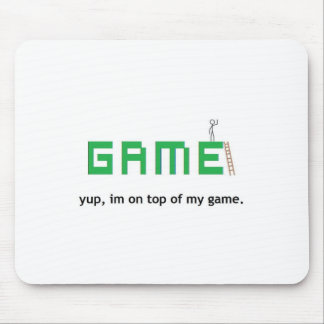 On top of my game mouse pad