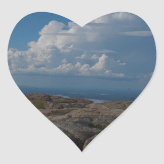On top of the rocks heart sticker