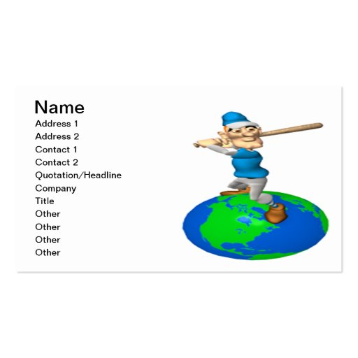 On Top Of The World Business Card Template