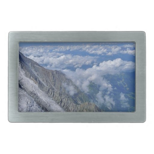 On Top Of The World - Looking Down Rectangular Belt Buckles