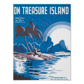 On Treasure Island Vintage Songbook Cover Poster
