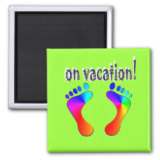 on vacation 2 inch square magnet