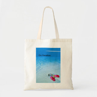 On Vacation image for Budget Tote