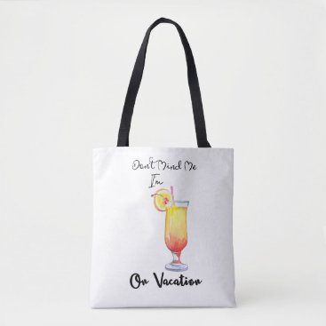 Beach Themed On Vacation Sunrise Tote