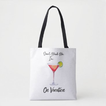 Beach Themed On Vacation Tote Bag