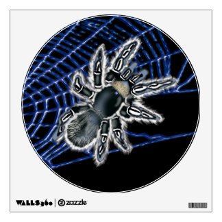 on web blue tarantula wall decal