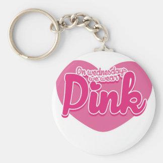 On Wednesdays we wear pink Basic Round Button Keychain