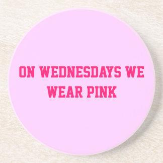 On Wednesdays we wear pink Circular Coaster