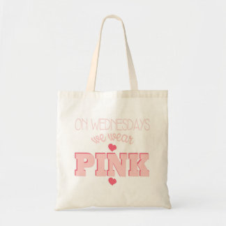 On Wednesdays We Wear Pink Heart Tote