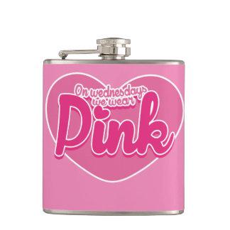 On Wednesdays we wear pink Hip Flask