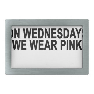 On Wednesdays We Wear Pink Women's T-Shirts.png Belt Buckle