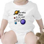 On What Planet do you Spend Most of your Time? Baby Bodysuit