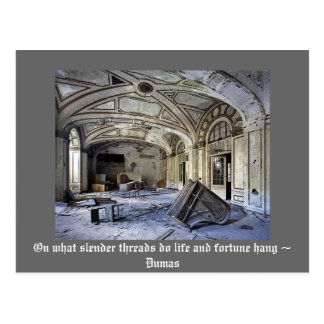 On what slender threads do life and fortune hang.. postcard