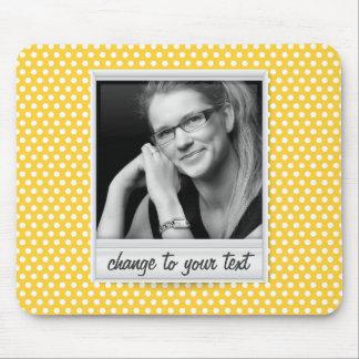 on white & sunny yellow polkadot mouse pad