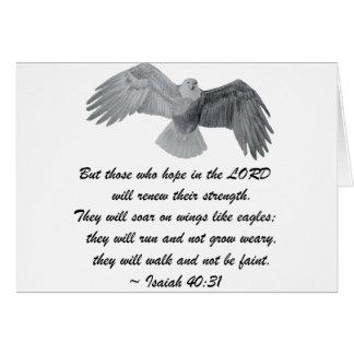 On wings like Eagles - Is 40:31 Card