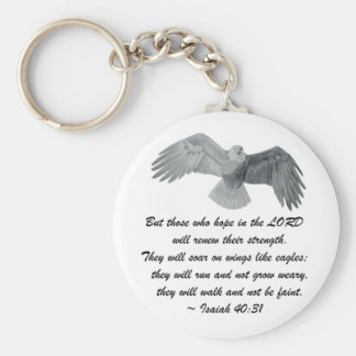 On wings like Eagles - Is 40:31 Key Chain