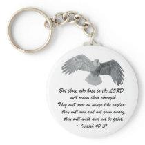 On wings like Eagles - Is 40:31 Keychain