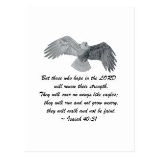 On wings like Eagles - Is 40:31 Postcard