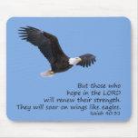 On Wings Like Eagles Mousepad