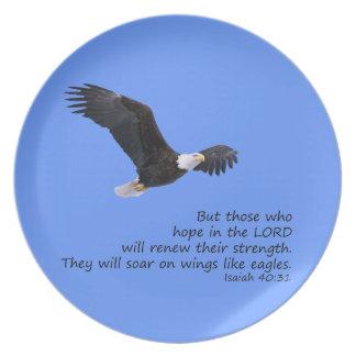 On Wings Like Eagles Plate