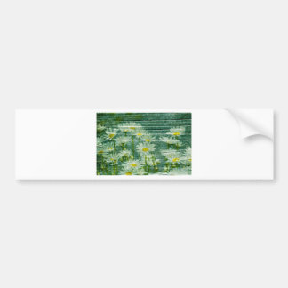 on wood, summer, background, country house, green, bumper sticker