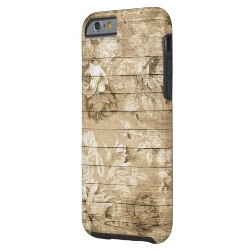 on-wood-vintage-wood-nostalgic tough iPhone 6 case