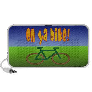 On Ya Bike! Cycling Go Green Zero Emissions Laptop Speaker