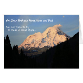 On Your Birthday, From Mom and Dad Card