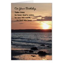 On Your Birthday, Take Time...Religious Card