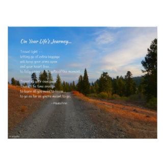 On Your Life's Journey...Poster Poster