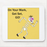 On Your Mark Get Set GO.ai Mouse Pad