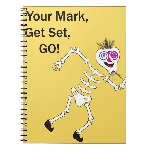 On Your Mark Get Set GO.ai Spiral Notebook