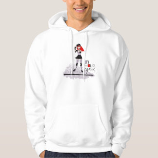 """""""On Your Mark"""" Roller Derby Hoodie"""